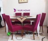 Nur Home Fuşya Renk Sandalye Kılıfı (Renk 13)