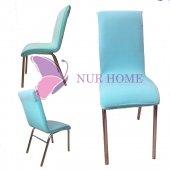 Lastikli Sandalye Kılıfı Turkuaz Mutfak Tipi M2 (Renk 25)
