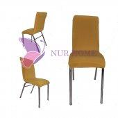 Lastikli Sandalye Kılıfı Hardal Sarısı Mutfak Tipi M2 (Renk 18)