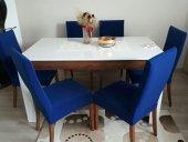 Nur Home Saks Mavi Sandalye Kılıfı (Renk 4)