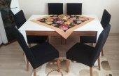 Nur Home Siyah Sandalye Kılıfı Örtüsü (Renk 1)