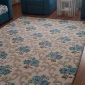 Nur Home Mavi Gül Bahçesi Lastikli Halı Örtüsü-2