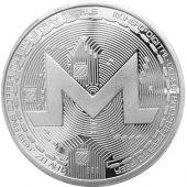 Gümüş Kaplama Monero Xmr Madeni Para Coin Token