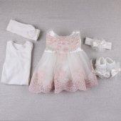 Dantenli Mevlüt Kız Elbise 10097 Pembe