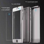iPhone 5 6 7 8 X Plus Kılıf 360 Tam Koruma Ön Arka Kapak-11