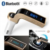 Bluetooth Fm Transmitter Aux Kart Girişli Araç...