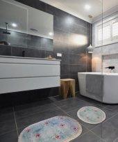 Myevilla Kaymaz Taban Banyo Paspası Klozet Takımı 60 X 100 2 Par
