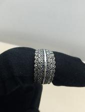925 Ayar Özel Swarovski Taşlı Gümüş Yüzük