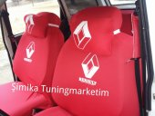 Renault Kırmızı ÖN VE ARKA SERVİS KOLTUK KILIF + 2 Lİ YASTIK+2 l