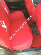 Renault Kırmızı ÖN VE ARKA SERVİS KOLTUK KILIF + 2 Lİ YASTIK+2 l-2