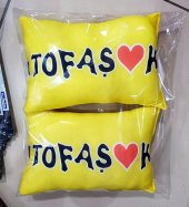 Tofaşk sarı konfor boyun yastık minder