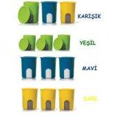 Tupperware Açıkgöz Saklama Kabı 1.25 Lt Yeşil Mavi Sarı