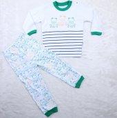 Kurbağlı 2-6 Yaş Pijama Takımı  A11192 Yeşil