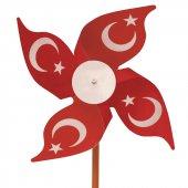100'lü Paket Türk Bayraklı Rüzgar Gülü