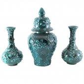 Oğuz Çini küp vazo seti-2