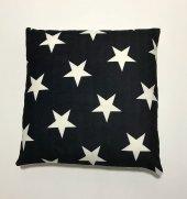 Nevresim Dünyası 3d Dekoratif İçi Dolu Kırlent Stars