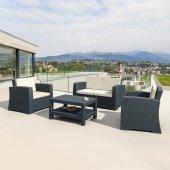 Siesta Rattan Monaco Lounge Bahçe Balkon Koltuk Se...