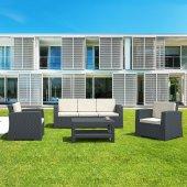 Siesta Rattan Monaco Lounge Xl Bahçe Balkon Koltuk Seti