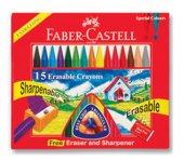 Faber Castell Silinebilir Mum Boya, 15 Renk