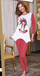 Lady Puanlı Taytlı Pijama Takımı