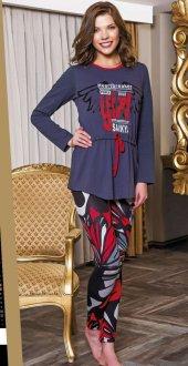 Lady Desenli Taytlı Pijama Takımı