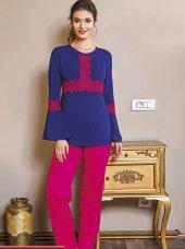 Lady Dantelli Bayan Pijama Takımı