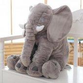 70cm Uyku Arkadaşım Büyük Gri Fil Peluş Oyuncak Sağlıklı, Peluşcu