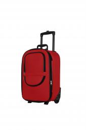 Laguna 00235 Kırmızı Kabin Boy Kumaş Valiz