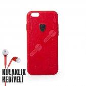 Puloka Apple iPhone 6 - 6S Exquisite Series Deri Kılıf - Kırmızı