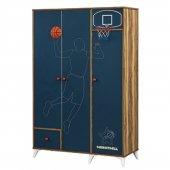 Setay Genç Odası Basketbol 3 Kapaklı Dolap