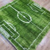 çocuk Odası Halısı Futbol Sahası Shagy Oyun Halısı 133x133