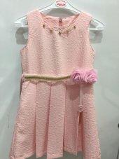 Kız Çocuk Gül Desenli Elbise