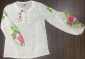 Kız Çocuk Kolu Çiçekli Gömlek
