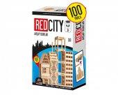 Redka REDcity Ahşap Bloklar %100 Gerçek Ahşap 100 Parça Süper (+3 YAS ÜZERİ)