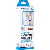 Syrox 2.0 MaH Micro USb Kablo (Renkli) SYX-C10