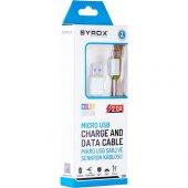 Syrox 2.0 MaH Micro USb Kablo (Renkli) SYX-C10-3