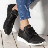 Wagoon Fermuar Detaylı Baskılı Erkek Sneaker Ayakkabı-4