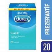 Durex Klasik Prezervatif 20li Avantaj Paketi