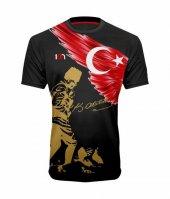 10n Muhteşem Atatürk Kocatepe Baskılı Siyah Çocuk T Shirt