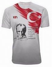 10n Muhteşem Atatürk İnkilap Baskılı Beyaz Çocuk T Shirt