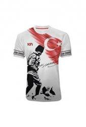 10n Muhteşem Atatürk Baskılı Koca Tepe Beyaz Çocuk T Shirt