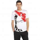 10n Muhteşem Atatürk Baskılı Beyaz Koca Tepe T Shirt