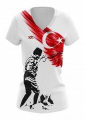 10n Kadın Atatürk T Shirt Kocatepe Baskılı Beyaz