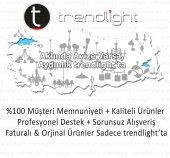 Trendylight K&uumlpeli Beyaz Renkli Tekli Avize-2