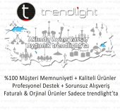 Trendylight Yaren 3 Lü G&uumlm&uumlş Renkli Camlı Avize-2