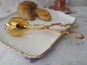Pasta Salata Börek Makarna Maşası Altın Gold Gümüş Silver