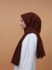 Düz Renkli Pamuklu Şal Kahverengi