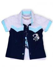 Kts Baby 4216 3 İşlemeli Gömlek Baskılı Body...