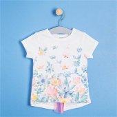 Soobe Kısa Kol Tshirt Beyaz Kız Çocuk Giyim