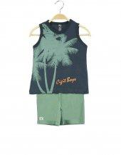 Palmiye Baskı S.Kol Kapri Takım 2-9 Yaş Erkek Çocuk Giyim-4
